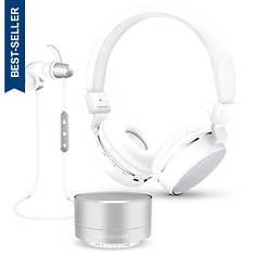 HyperGear Wireless Speaker, Headphones & Earbuds Set