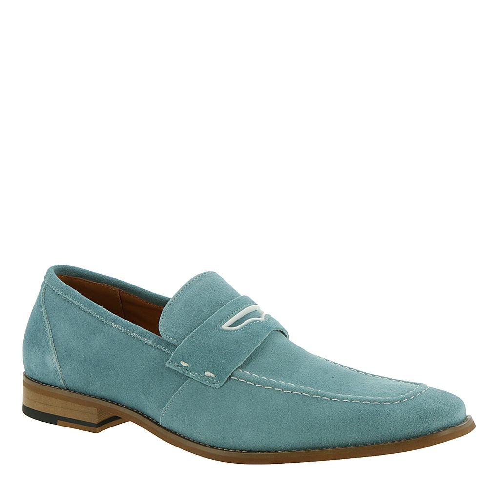 60s Mens Shoes | 70s Mens shoes – Platforms, Boots Stacy Adams Colfax Mens Blue Oxford 7.5 M $44.99 AT vintagedancer.com