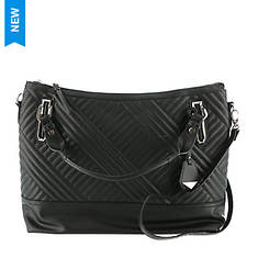 Jessica Simpson Ryanne Quilt Top Zip Tote Bag