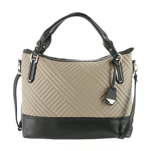 Jessica Simpson Ryanne Quilt Top Zip Tote Bag