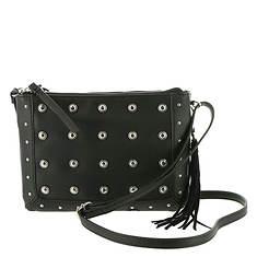Jessica Simpson Pilar Stud Double Top Zip Crossbody Bag