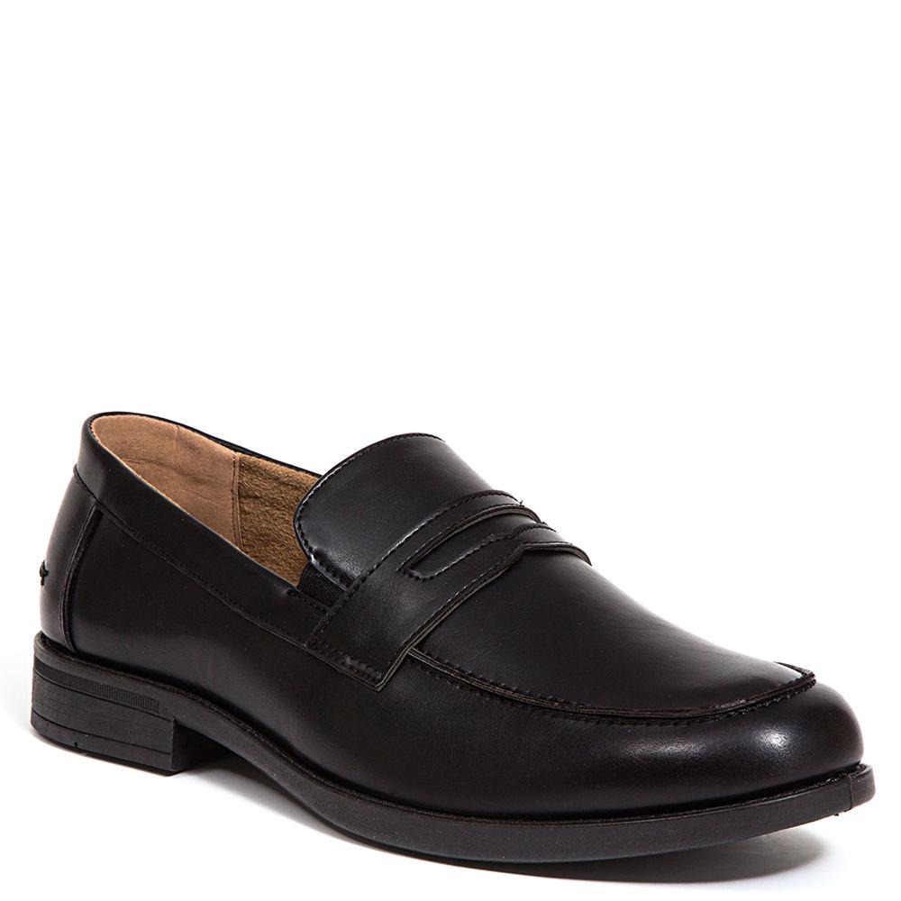 1950s Mens Shoes: Saddle Shoes, Boots, Greaser, Rockabilly Deer Stags Fund Classic Mens Black Slip On 8.5 M $59.95 AT vintagedancer.com