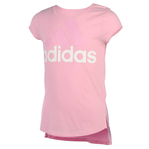 adidas Girls' Curved Hem Tee