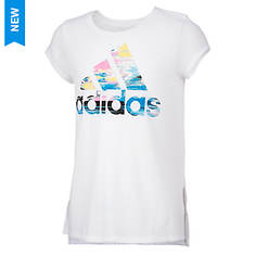 adidas Girls' Vented Side Seam Tee