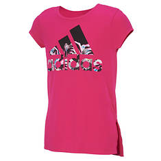 adidas Girls' Vented Side Seam Tee