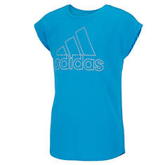 adidas Girls' Drop Shoulder Tee