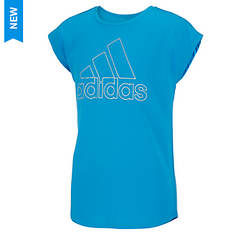 adidas Girls' Drop Shoulder Tee