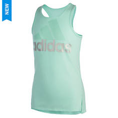 adidas Girls' Shaped Hem Tank