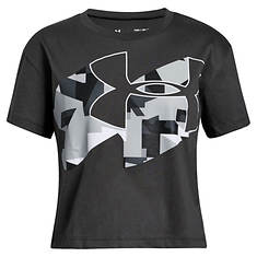 Under Armour Girls' Print Fill Logo SS