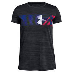 Under Armour Gils' Hybrid Big Logo SS Tee