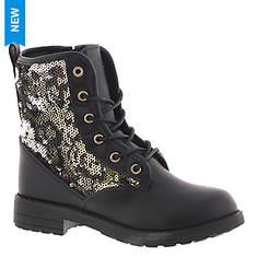 KensieGirl Glitter Combat Boot KG80970M (Girls' Toddler-Youth)