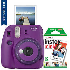 FUJIFILM Instax Mini 9 Camera with 10 Exp