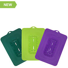 Elite Universal Silicone Suction Lids - 3-Pc. Rectangular Set