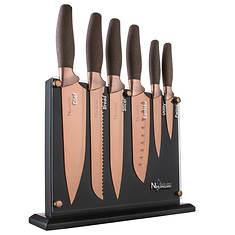 New England Cutlery 7-Piece Titanium-Coated Knife Set