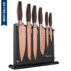 New England Cutlery 7-Piece Titanium-Coated Knife Set
