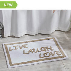 Live Love Laugh Bath Mat