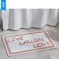 Live Love Laugh Bath Mat