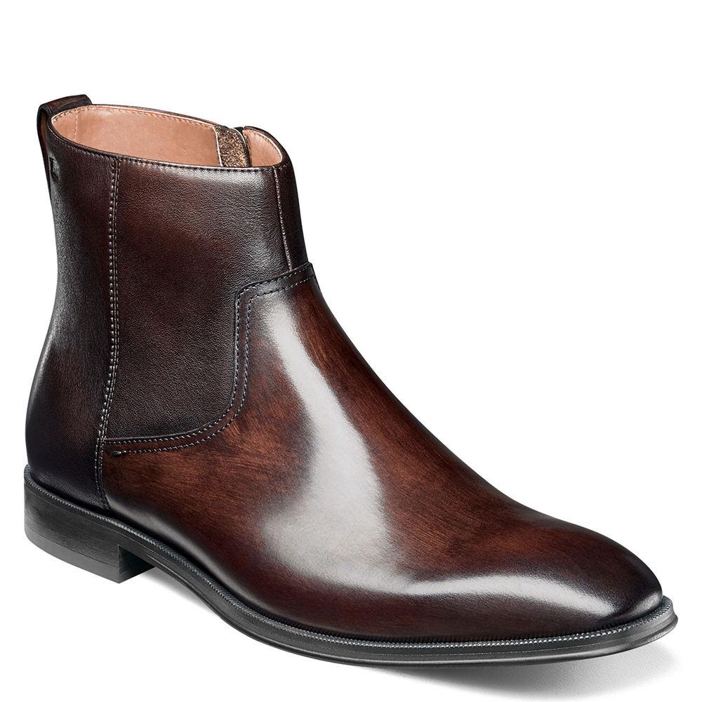 e6a46efb003 Details about Florsheim Belfast Plain Toe Side Zip Boot Men's Boot