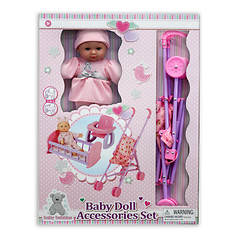 Kid Concepts 2-in-1 Baby Doll and Accessories Set