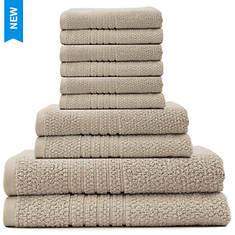 Softee Zero Twist Plush 10-Piece Towel Set