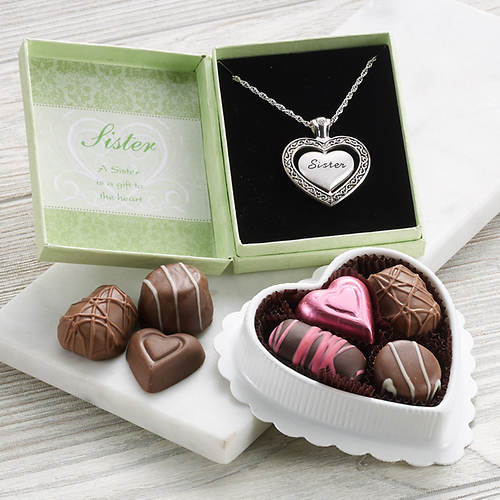 Keepsake Necklace & Chocolate