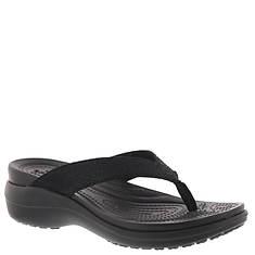 Crocs™ Capri Metallic Texture Wedge Flip (Women's)