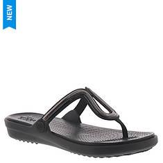 Crocs™ Sanrah Metal Block Flat Flip (Women's)