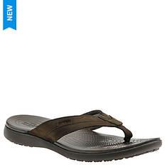 Crocs™ Santa Cruz Leather Flip (Men's)