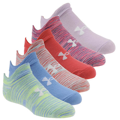 Under Armour Girls' Essential 2.0 No Show 6-Pack
