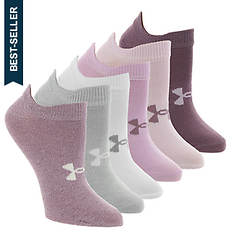 Under Armour Women's Essential 2.0 No Show 6-Pack