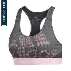adidas Women's AlphaSkin Don't Rest Sport Logo Bra