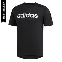 adidas Men's D2M Linear Logo Tee