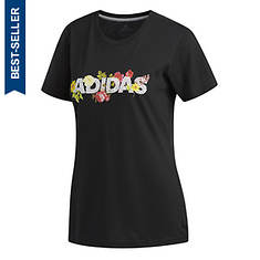 adidas Women's Floral Linear Tee