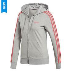 adidas Women's Essentials 3 Stripe Full Zip Hoodie