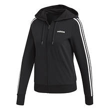adidas Women's Essentials 3 Stripe Full Zip Hoodie