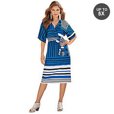 Kimono Sleeve Midi Dress