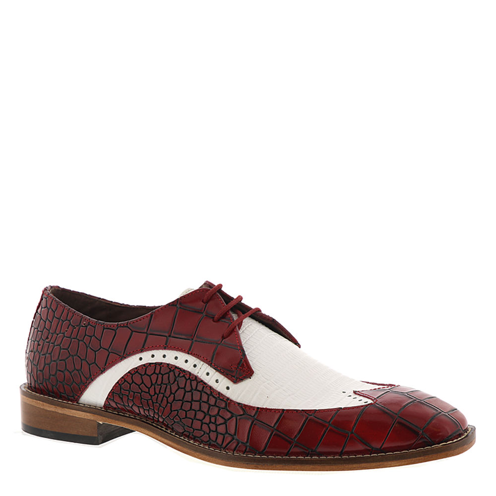 Men's Vintage Christmas Gift Ideas Stacy Adams Trazino Mens Red Oxford 7 M $89.95 AT vintagedancer.com