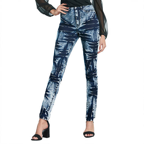 Acid-Wash Skinny Jean