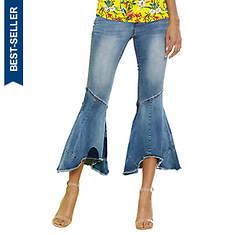 Raw-Hem Flare Jeans
