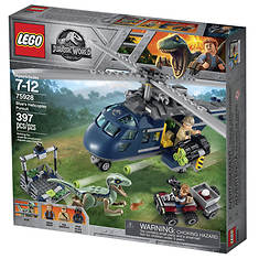LEGO® Jurassic World Blue's Helicopter Pursuit 397-Pc. Building Set