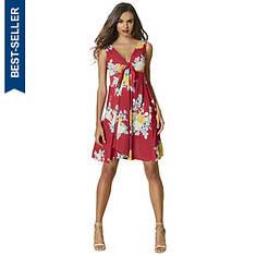 Tie-Front Peekaboo Dress