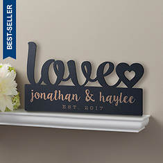 Personalized Our Love Wood Plaque