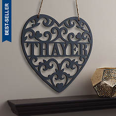 Personalized Heart Wood Plaque