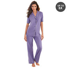 Jersey Button-Up Pajama Set