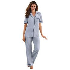 Jersey Button-Up Pajama Set