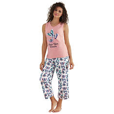 Graphic Tank & Capri Pant PJ Set