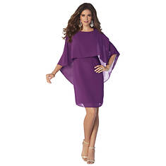 Capelet Sheath Dress