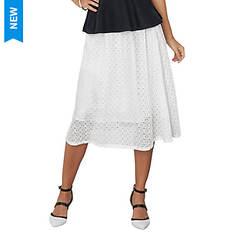 Lace A-Line Midi Skirt