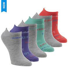 adidas Girls' Superlite 3-Stripe Life 6-Pack No-Show Socks