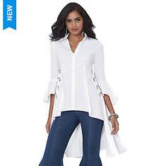 Grommet Lace-Up Shirt